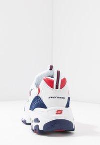Skechers Sport - D'LITES - Zapatillas - white/navy/red - 5