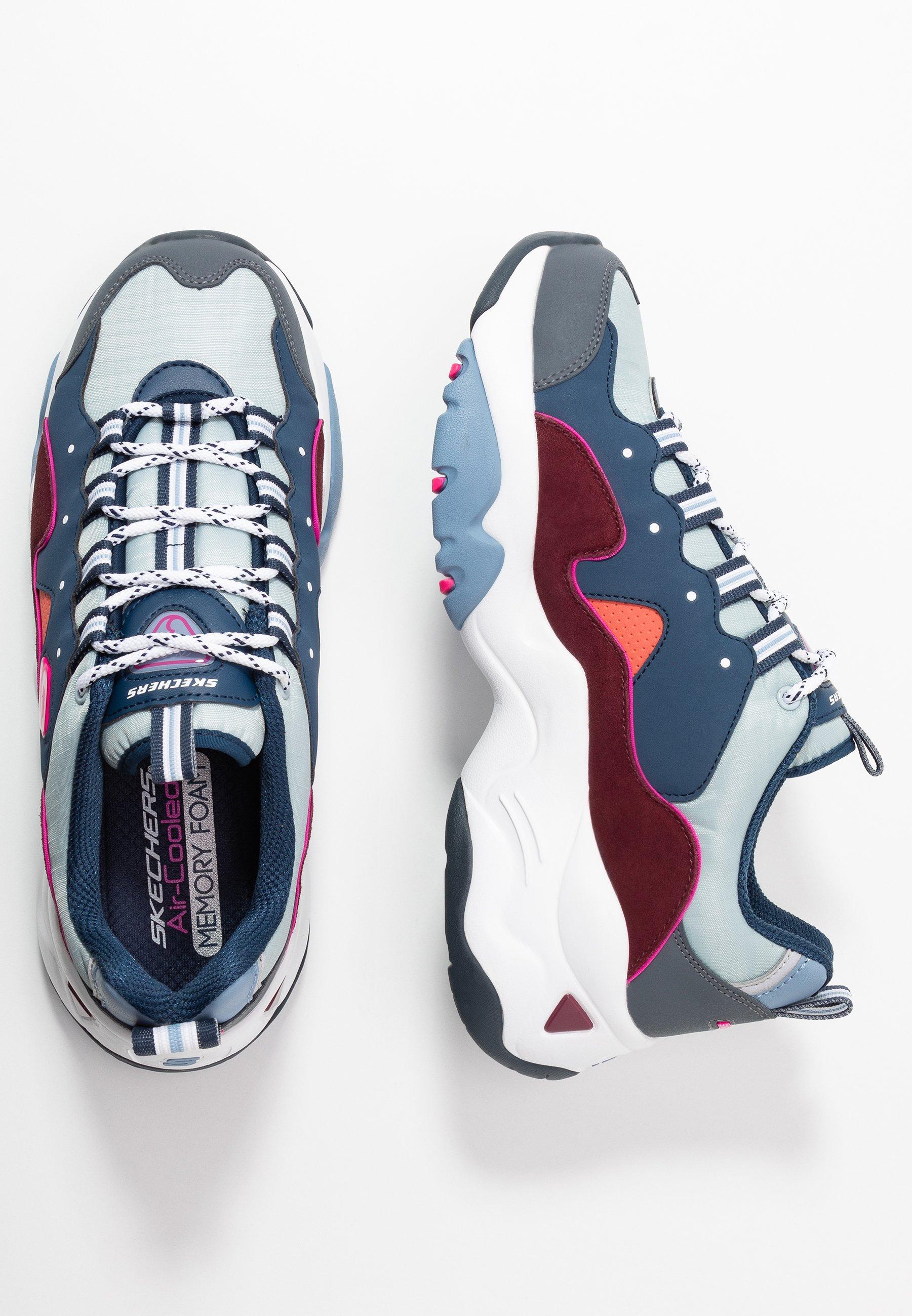 Skechers Sport D'LITES 3.0 - Sneakers basse - navy/burgundy/blue/pink