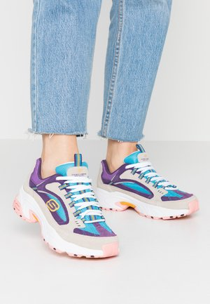 STAMINA - Sneakers laag - natural/purple/blue/white