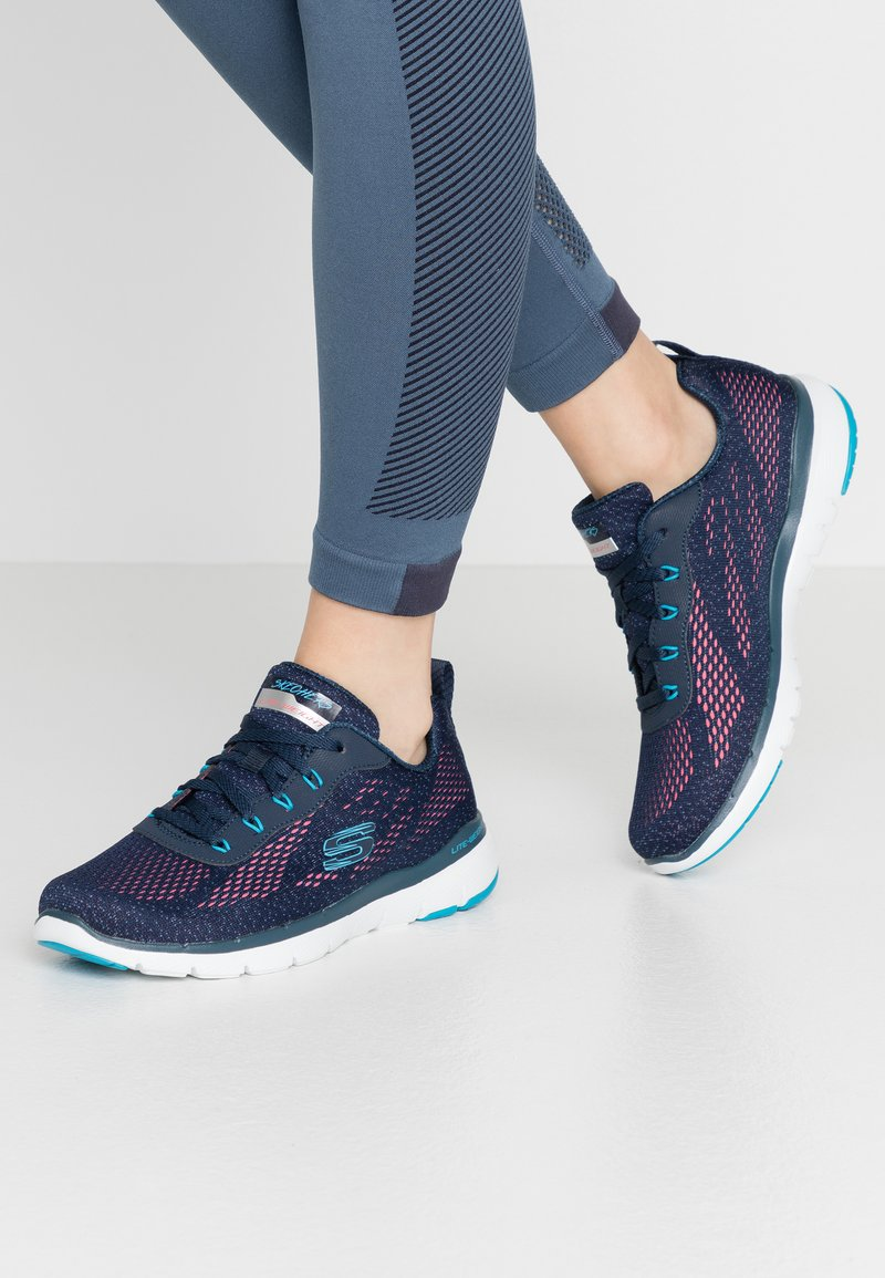 Skechers Sport - FLEX APPEAL 3.0 - Sneakers laag - navy/blue/pink