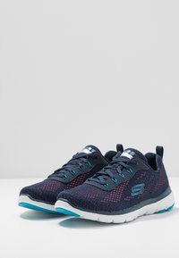 Skechers Sport - FLEX APPEAL 3.0 - Sneakers laag - navy/blue/pink - 4
