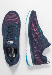 Skechers Sport - FLEX APPEAL 3.0 - Sneakers laag - navy/blue/pink - 3