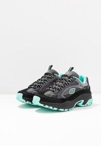 Skechers Sport - STAMINA - Sneakers laag - black/gray/mint - 4