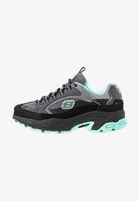 Skechers Sport - STAMINA - Sneakers laag - black/gray/mint - 1