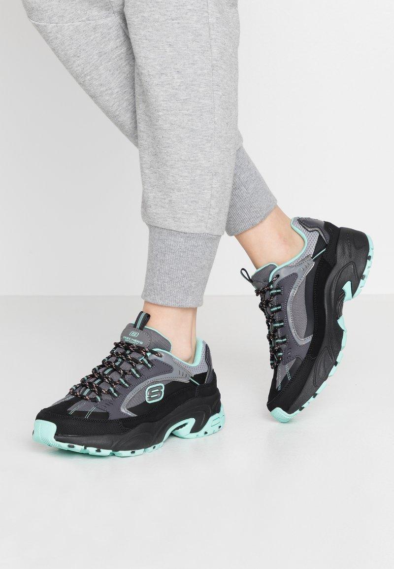 Skechers Sport - STAMINA - Sneakers laag - black/gray/mint