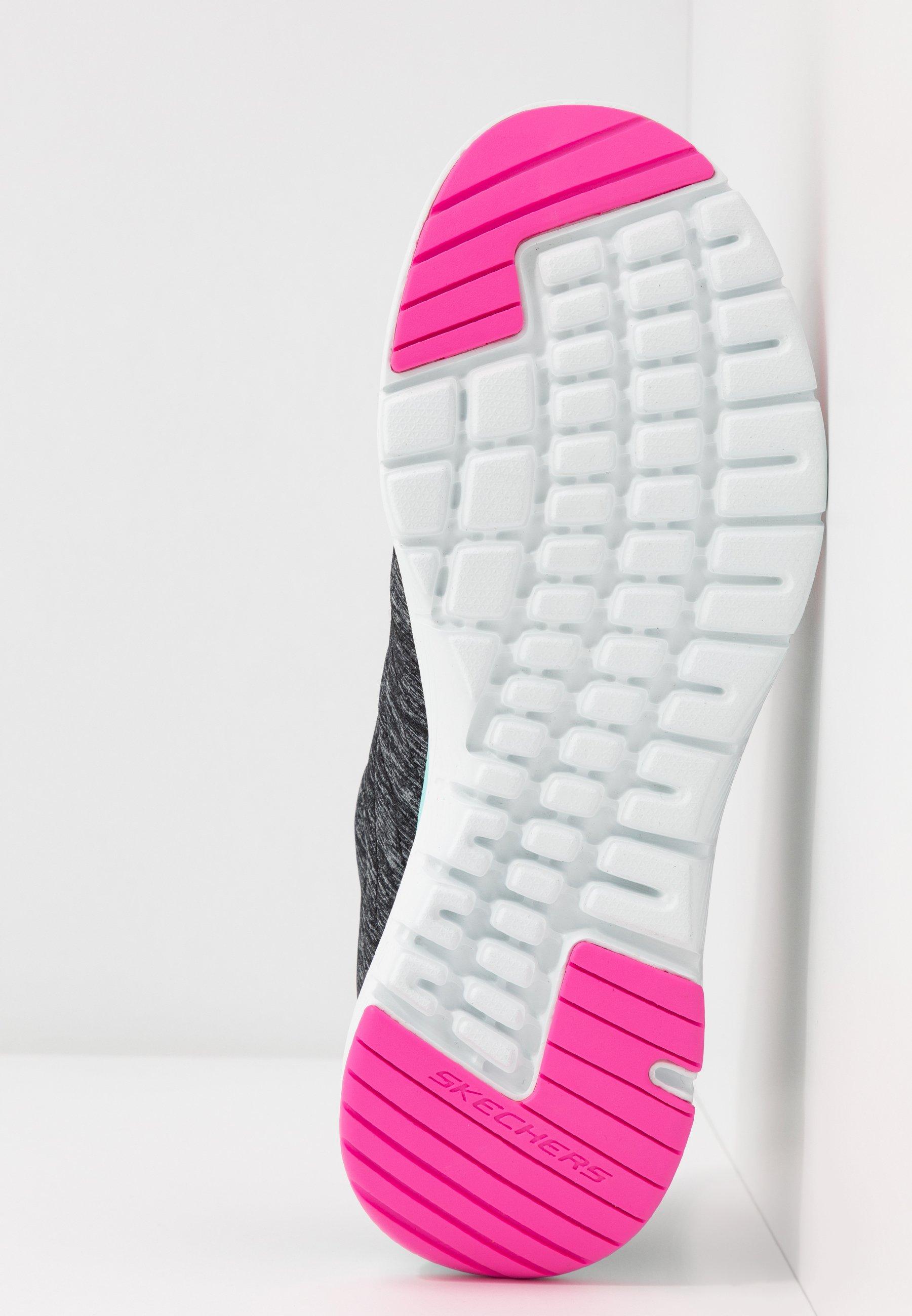 Skechers Sport Flex Appeal - Joggesko Black/pink/blue