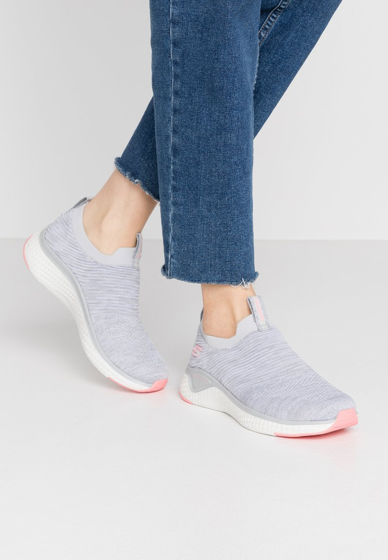 Skechers Sport - SOLAR FUSE - Slip-ons - gray/pink
