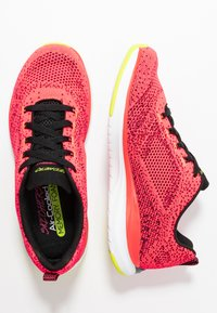 Skechers Sport - ULTRA GROOVE - Trainers - hot coral/black/lime - 3
