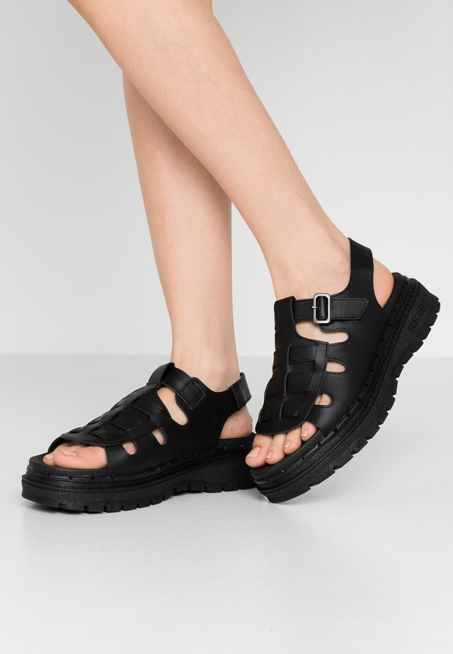 JAMMERS - Korkeakorkoiset sandaalit - black