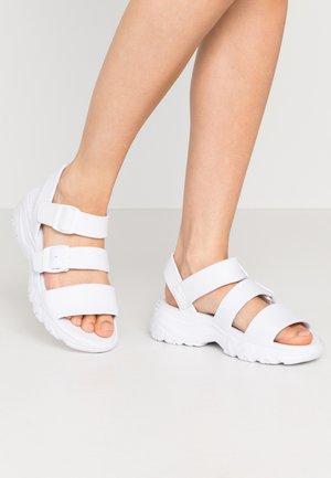 CALI - Platform sandals - white