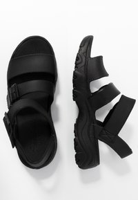 Skechers Sport - CALI - Platform sandals - black - 3