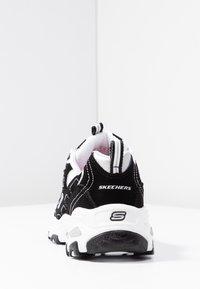 Skechers Sport - D'LITES - Trainers - black/white/silver - 5