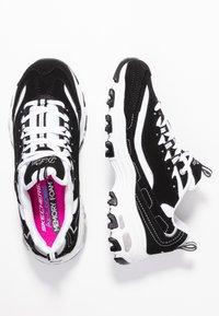 Skechers Sport - D'LITES - Trainers - black/white/silver - 3
