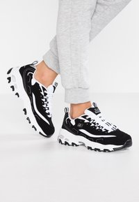 Skechers Sport - D'LITES - Trainers - black/white/silver - 0