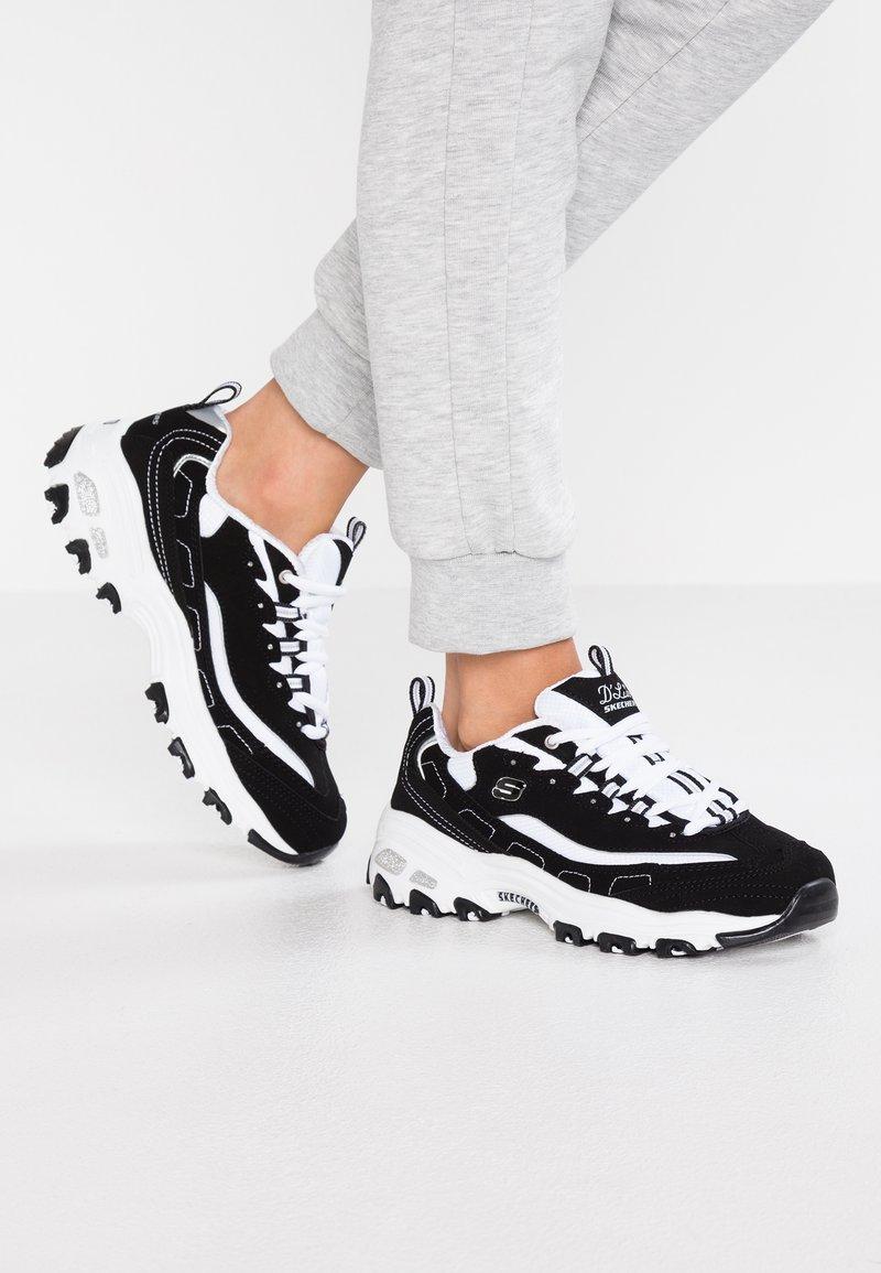 Skechers Sport - D'LITES - Trainers - black/white/silver