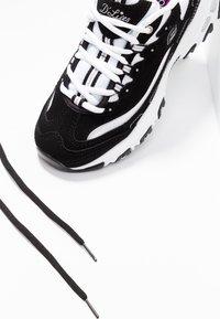 Skechers Sport - D'LITES - Trainers - black/white/silver - 7