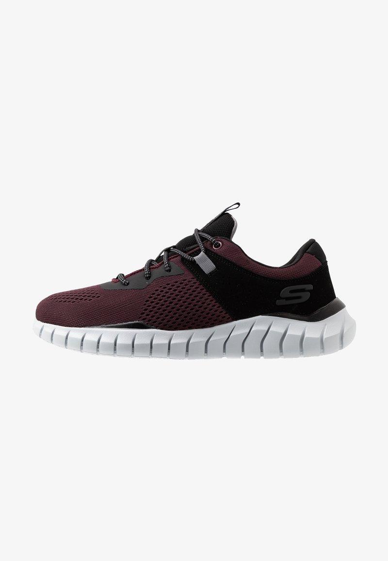 Skechers Sport - OVERHAUL - Sneaker low - burgundy/black