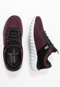 Skechers Sport - OVERHAUL - Sneaker low - burgundy/black - 1