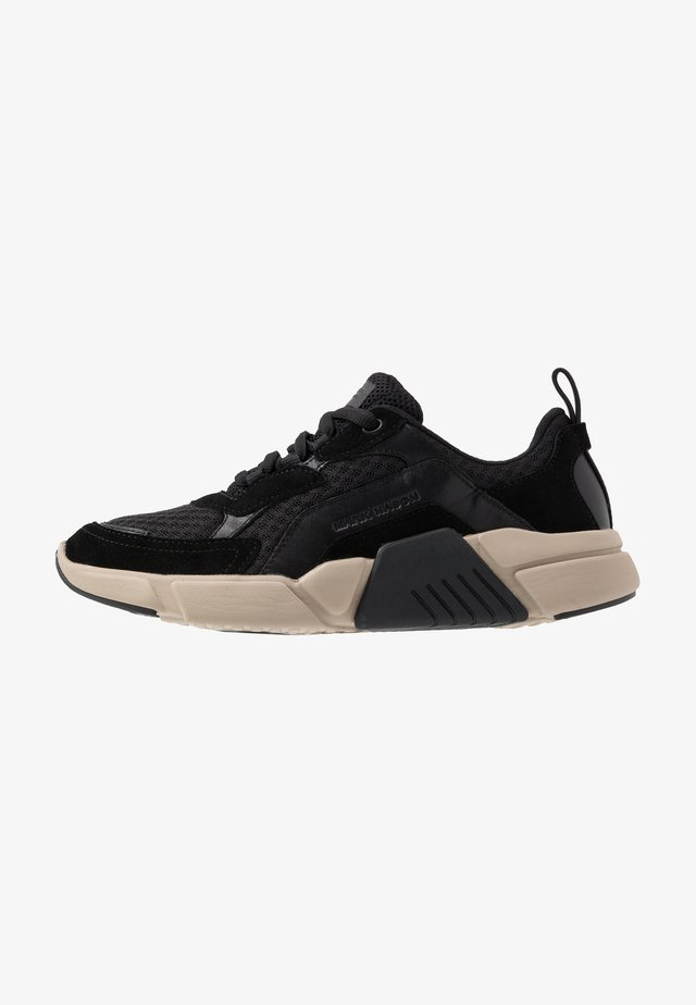 BLOCK - Trainers - black/tan