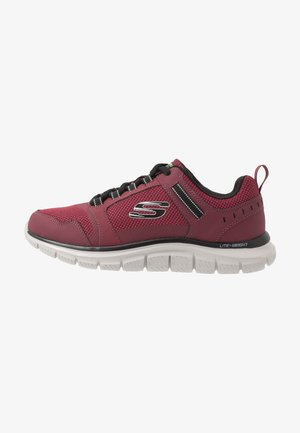 TRACK KNOCKHILL - Sneakers laag - burgundy/black