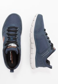 Skechers Sport - TRACK - Sneakersy niskie - navy/orange - 1