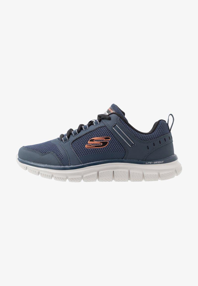 Skechers Sport - TRACK - Sneakersy niskie - navy/orange