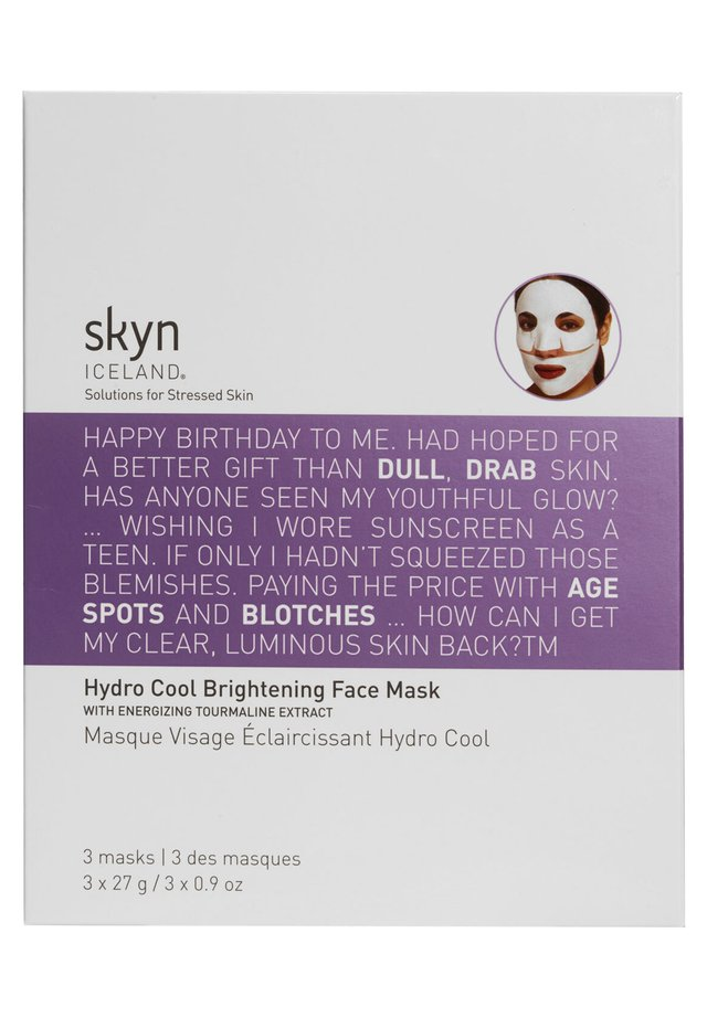 SKYN ICELAND HYDRO COOL BRIGHTENING FACE SHEET MASK - Face mask - -