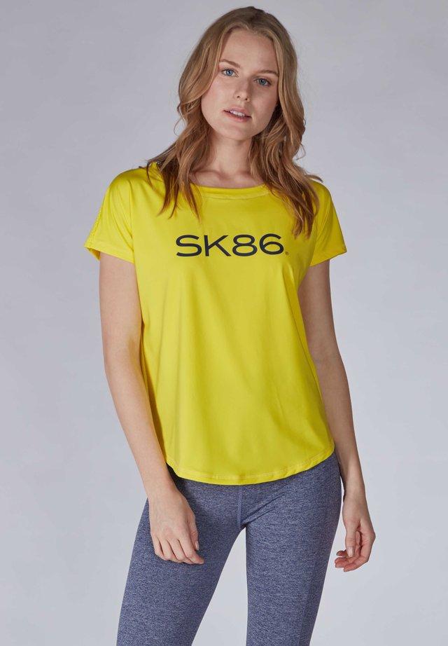 Print T-shirt - blazing yellow