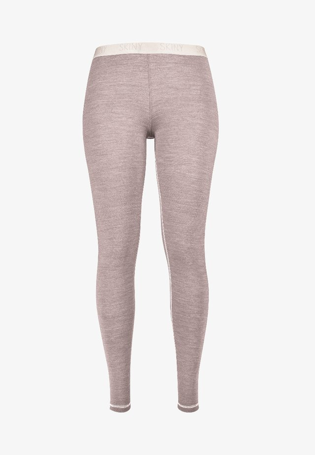 ACTIVE WOOL MIT KÜHLENDER FUNKTION - Leggings - taupe melange