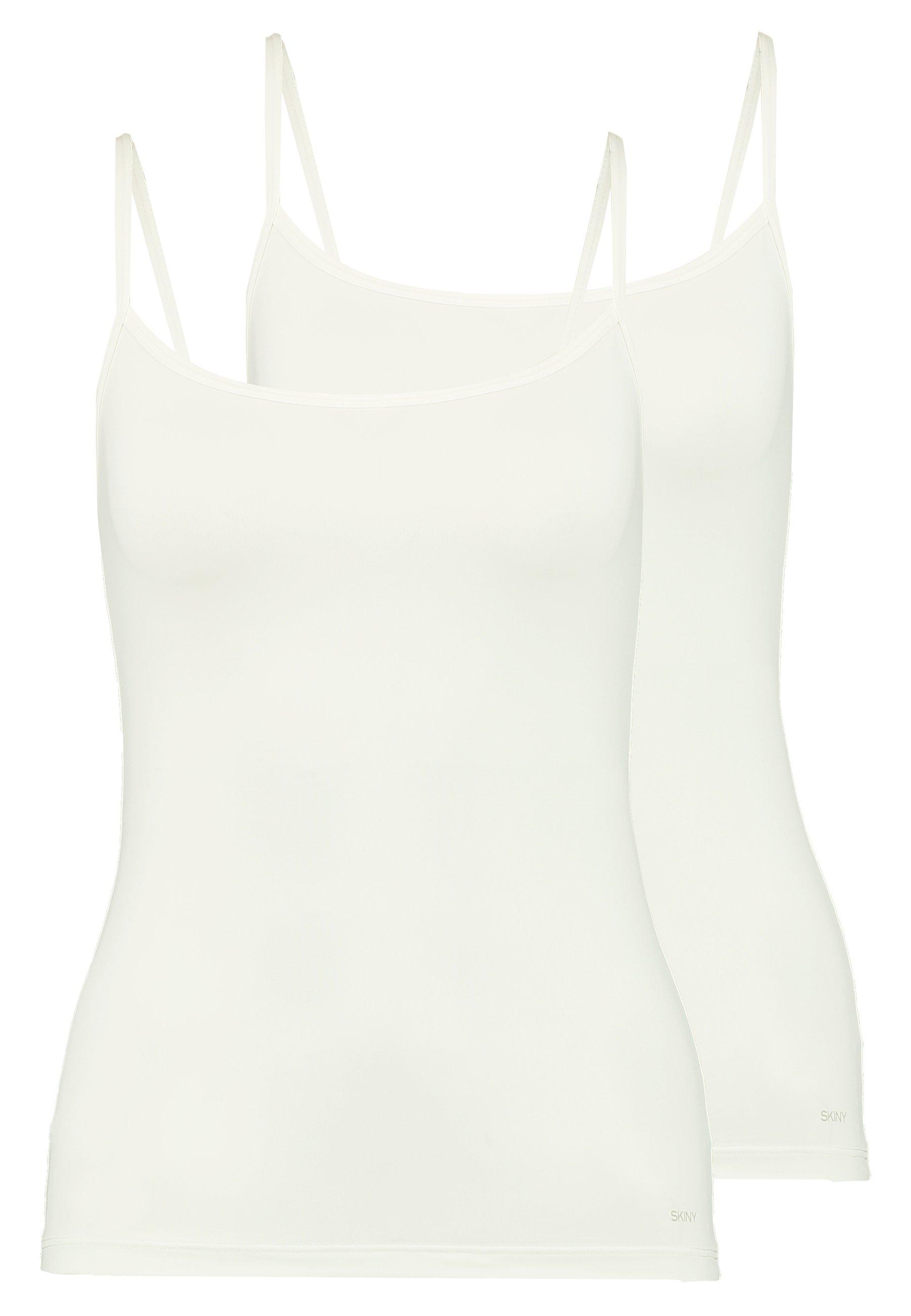 Skiny ADVANTAGE MICRO 2 PACK - Maglietta intima - white 9Vh2Disn
