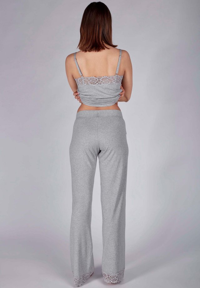 MIT SPITZE - Pyjama bottoms - stone grey melange