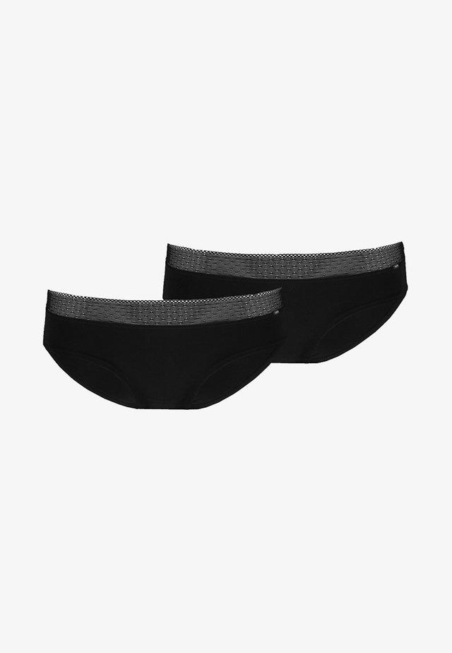 ADVANTAGE PANTY 2 PACK - Briefs - black