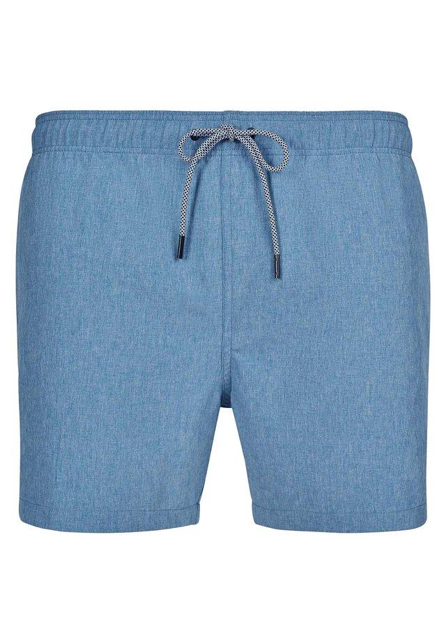 MIT SEITLICHEN STREIFEN - Swimming shorts - opalblue melange