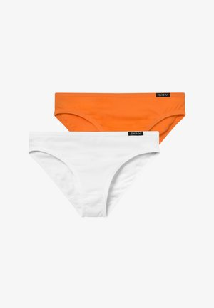 ESSENTIALS GIRLS RIO 2 PACK - Alushousut - orange/white