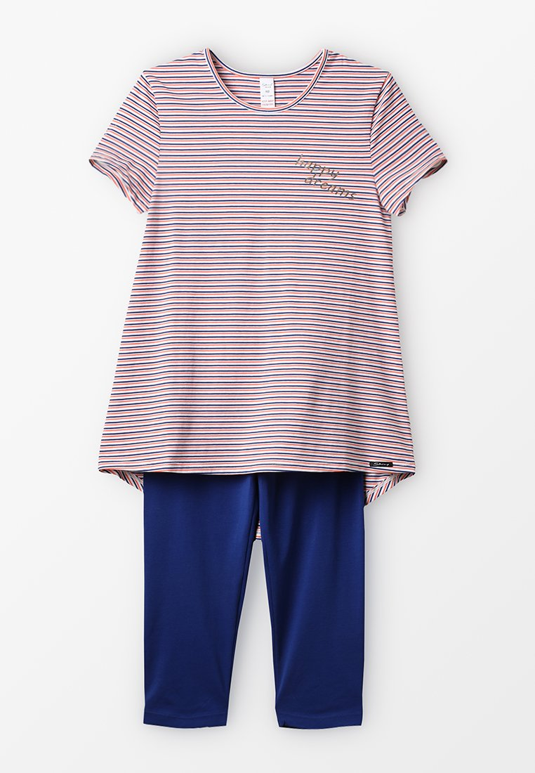 Skiny - COSY NIGHT SLEEP GIRLS PYJAMA 3/4 - Pyjamas - coral stripes