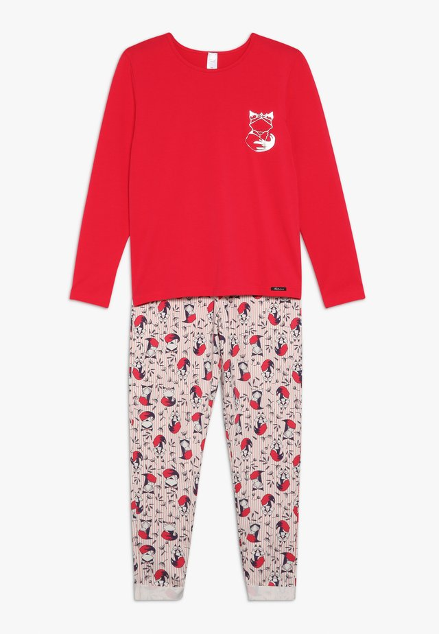 COSY NIGHT SLEEP GIRLS LANG - Pyjama set - rose red