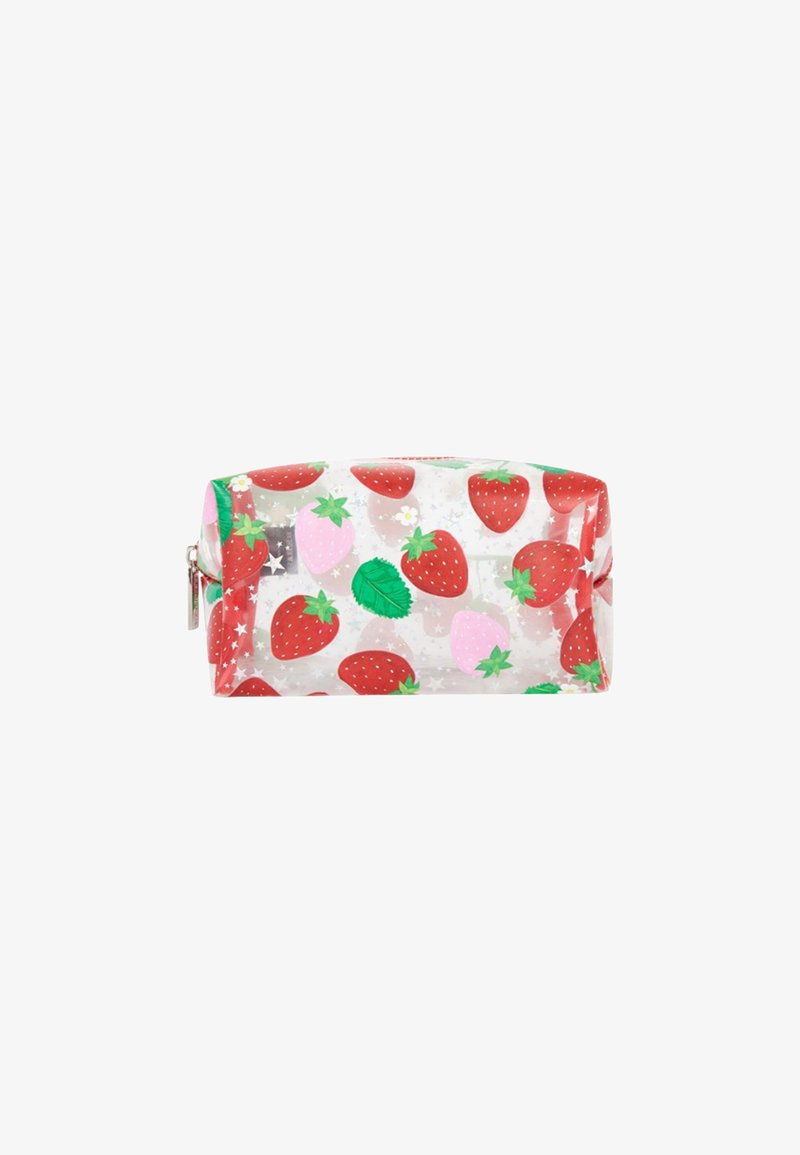 Skinnydip - STRAWBERRY MAKE UP BAG - Kosmetiktasche - red