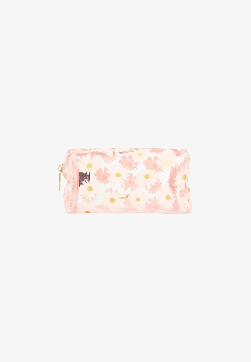 Skinnydip - AZALEA GOLD DAISY MAKE UP BAG - Wash bag - pink