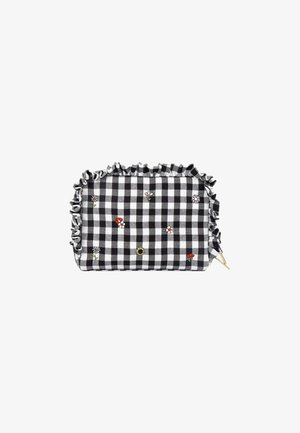 EMBROIDERED DITSY WASHBAG - Kosmetiktasche - b/w