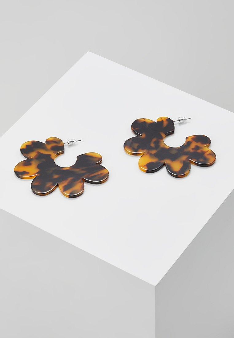 Skinnydip - TORTOISE DAISIES - Earrings - brown