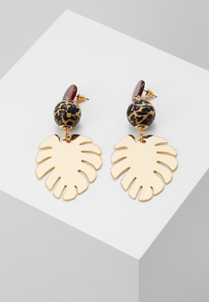 LEAFY DROP - Earrings - gold-coloured