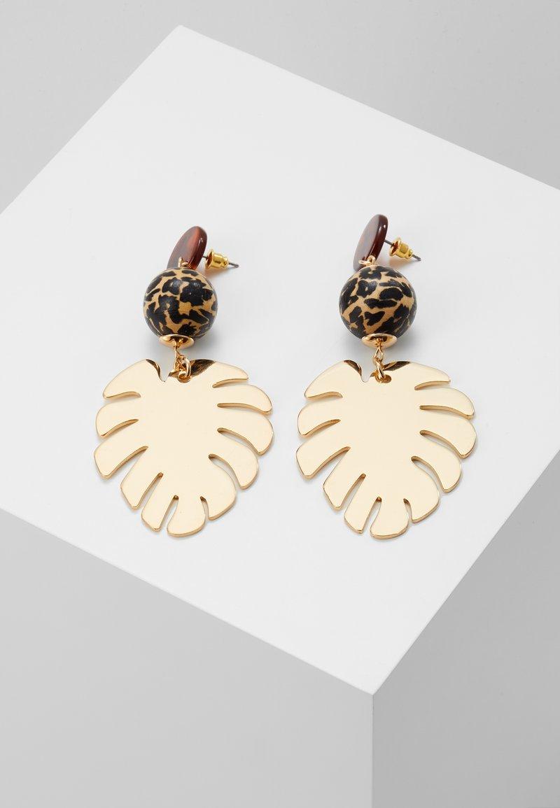 Skinnydip - LEAFY DROP - Boucles d'oreilles - gold-coloured