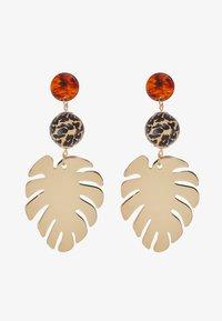Skinnydip - LEAFY DROP - Boucles d'oreilles - gold-coloured - 3