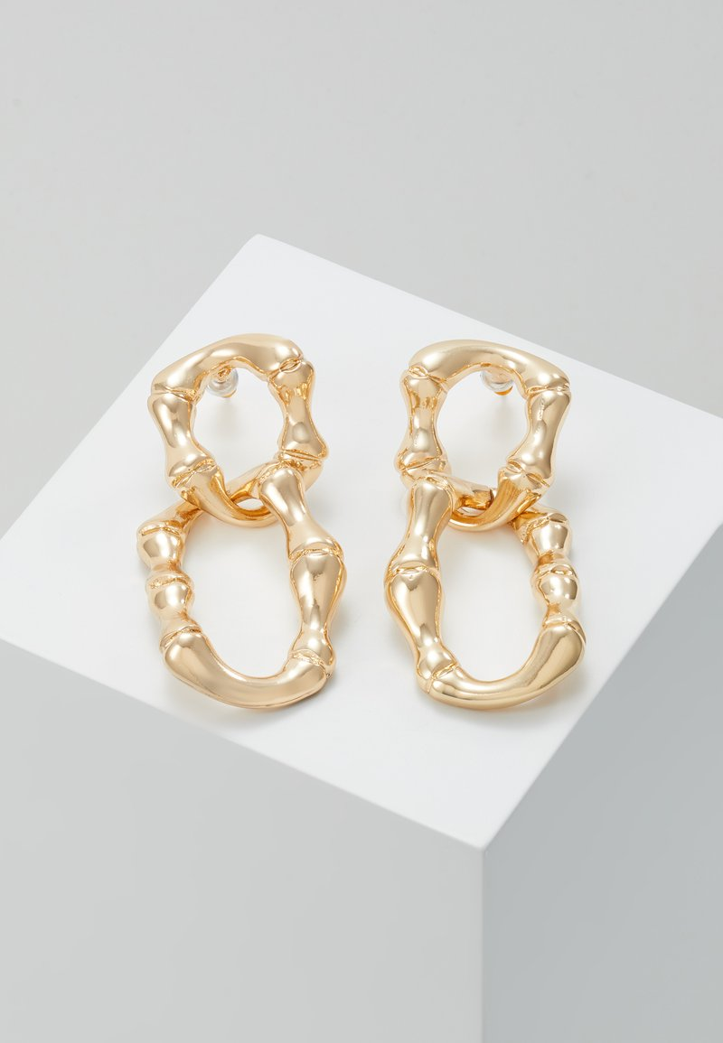 Skinnydip - BAMBOO CHAIN - Pendientes - gold-coloured