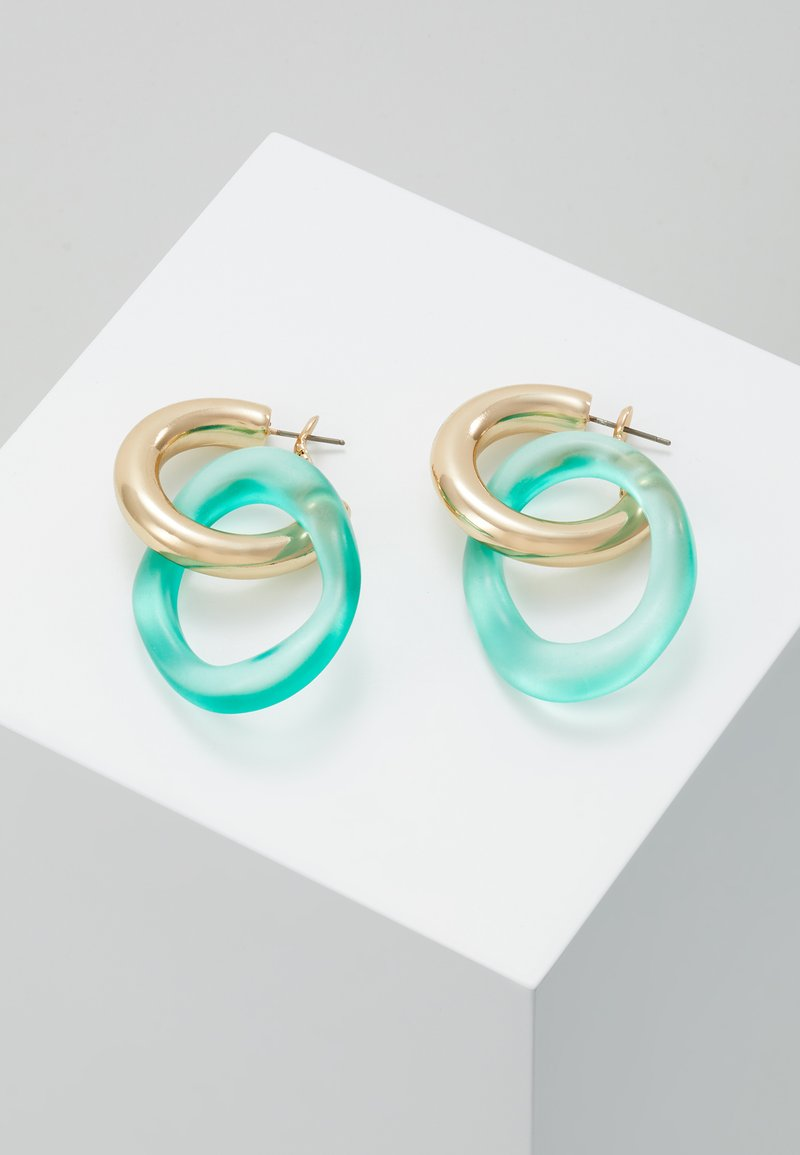 Skinnydip - LOOP - Boucles d'oreilles - green/gold-coloured