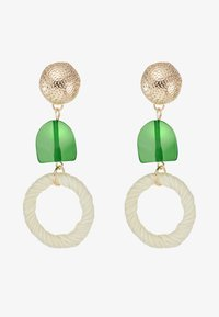 Skinnydip - STRAW GEM DROP EARRING - Korvakorut - green - 3
