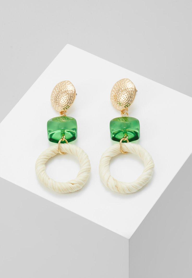 Skinnydip - STRAW GEM DROP EARRING - Ohrringe - green