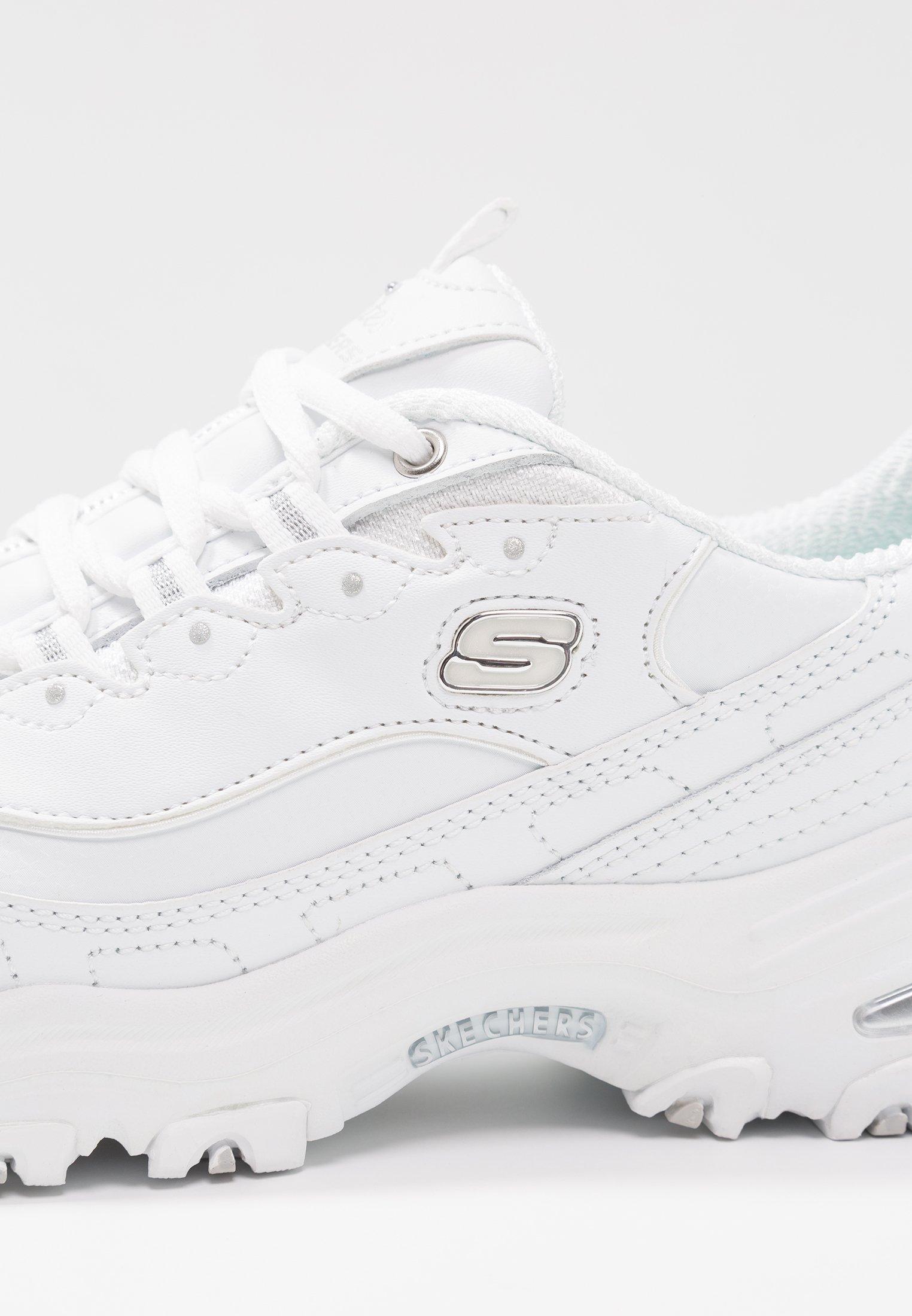 Skechers Wide Fit WIDE FIT D'LITES - Sneakersy niskie - white