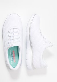 Skechers Wide Fit - WIDE FIT SUMMITS - Loaferit/pistokkaat - white/silver - 3