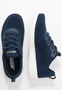 Skechers Wide Fit - BOBS SQUAD - Sneakers laag - navy - 3